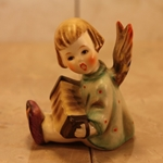 Hummel 39 Angel, Joyous News with Accordion, Candleholder