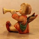 Hummel 40 Angel, Joyous News with Trumpet, Candleholder