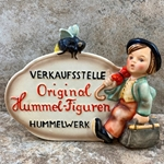 M.I. Hummel 205, German Language Dealer Plaque
