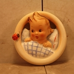 Hummel 137 B Child in Bed, Wall Plaque