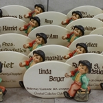 Hummel 187 Type 11 Personalized Plaques to Goebel Collectors' Club