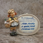 Hummel 722 Little Visitor Plaque, Type 2, Personalized Plaques