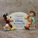 Hummel 187 Type 18 Merry Wanderer  Disney Figurines Mickey Mouse, Plaque, Type 1
