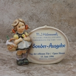Hummel 722 Little Visitor Plaque, Type 3, Factory Visit, Open House 15. Juni 1996, Personalized