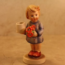 Hummel 115 Girl With Nosegay Advent Candlestick