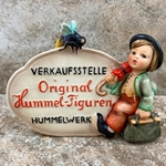 M.I. Hummel 205 German Language Dealer Plaque, Tmk 1, Type 1