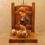M.I. Hummel 60/A Farm Boy Tmk 3, Bookends, Type 1