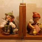 M.I. Hummel 61/B Chick Girl Bookends Tmk 3, Type 1