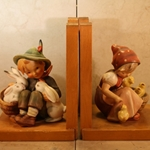 M.I. Hummel 61/B Chick Girl Bookends Tmk 2, Type 1