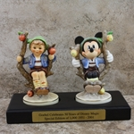 M.I. Hummel Figurines 142 3/0 Apple Tree Boy / Disney Figurines 50 Years, Type 1
