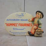 M.I. Hummel 187 M.I. Hummel Plaque, In English 1947, Tmk 5, Authorized Dealer, Type 1