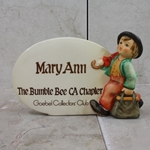 M.I. Hummel 187-A M.I. Hummel Plaque, Tmk 6, Mary Ann Bumble Bee CA Chapter, Type 1