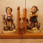 M.I. Hummel 250 A / B Little Goat Herder / Feeding Time Bookends Tmk 3, Type 3