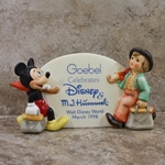 M.I. Hummel Figurines 187 Merry Wanderer / Disney Figurines  Mickey Mouse, Plaque, Type 1