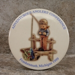 M.I. Hummel Aufsteller Plaque Adventurous Anglers' Conference Tmk 6, Type 1