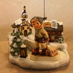 M.I. Hummel 2047 Winter Sleigh Ride, Tmk 8, Home for the Holidays, Type 1