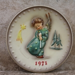 M.I. Hummel 264 Heavenly Angel Annual Plate 1971, 100th Anniversary Tmk 4, Type 1