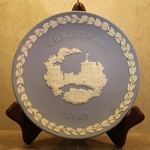 Wedgwood Christmas Plate 1969 Windsor Castle