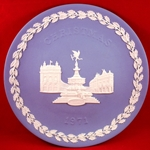 Wedgwood Christmas Plate 1971 Picadilly Circus