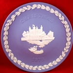 Wedgwood Christmas Plate 1973 Tower of London