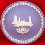 Wedgwood Christmas Plate 1974 House of Parliament
