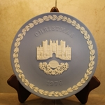 Wedgwood Christmas Plate 1976 Hampton Court
