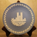 Wedgwood Christmas Plate 1977 Westminster Abbey