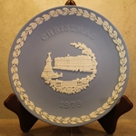 Wedgwood Christmas Plate 1979 Buckingham Palace