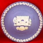 Wedgwood Christmas Plate 1981 Marble Arch