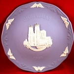 Wedgwood Christmas Plate 1987 York Minster Cathedral