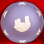 Wedgwood Christmas Plate 1990 Durham Cathedral