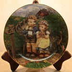 Danbury Mint, M I Hummel Plate ~ Country Crossroads