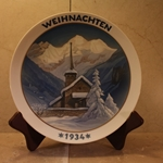 Rosenthal Weihnachten Christmas Plate, 1934 Newer Version