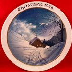Rosenthal Weihnachten Christmas Plate, 1946, English inscription (CHRISTMAS)