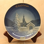 Rosenthal Weihnachten Christmas Plate, 1959 Type 1 English inscription (CHRISTMAS)
