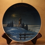 Rosenthal Weihnachten Christmas Plate, 1962 Type 1 English inscription (CHRISTMAS)