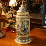 Beer Stein, Marzi & Remy, Catalog Number 67, 1.0L, Pottery, relief, pewter lid.