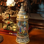 Beer Stein, Marzi & Remy, Catalog Number 1532, 0.5L, Pottery, relief, pewter lid.