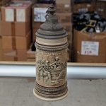 Beer Stein, Marzi & Remy, Catalog Number 385, 0.5L, Pottery, relief, pewter lid.