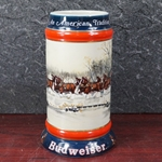 Beer Stein, Anheuser-Busch, CS112 Budweiser Holiday 1990, Wholesalers Edition, Type 1