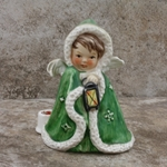 Goebel Figurine, JANET ROBSON Angel With Lantern 42-412-09 Tmk 5, Green, Type 1