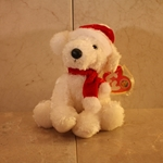 2007, December, Puppy Claus, Beanie Baby Of The Month (BBOM), Type 1, 2007©