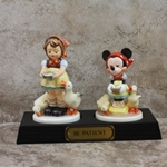 M.I. Hummel 197 2/0 Be Patient Tmk 7, Disney Figurine, 1994, Type 1