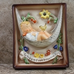 M.I. Hummel 165 Swaying Lullaby, Wall Plaque Tmk 7, Seconds / For Staff Members Only, Tmk 7, Type 1