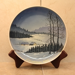 Rosenthal Weihnachten Christmas Plate, 1963 Type 1 English inscription (CHRISTMAS)